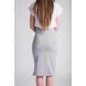 Sukně - kratší šedá