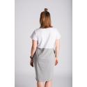 Šaty 2v1 - bílá/šedá